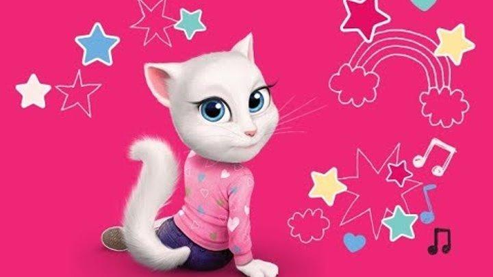 Говорящая кошка Анджела. Мультик игра видео для детей.talking tom and angela.Детский канал