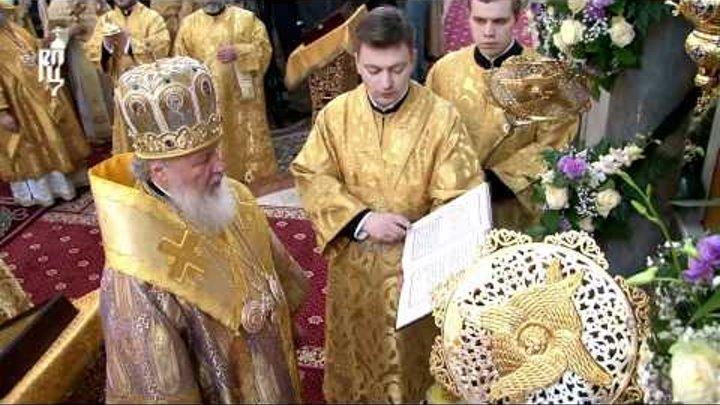 Патриарх освятил храм вмч. Димитрия Солунского