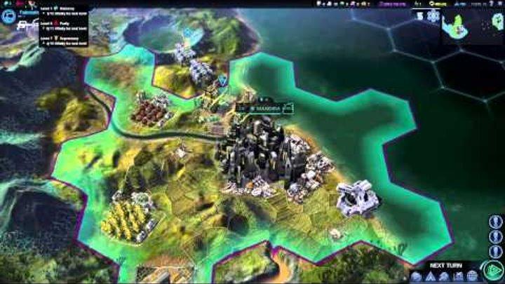 Sid Meier's Civilization: Beyond Earth — игровой процесс (русские субтитры)