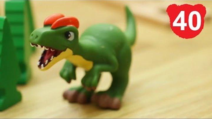 Эпизод 40 : Динозавр валит лес. Деревянные игрушки Brio Train железная дорога игра брио томас