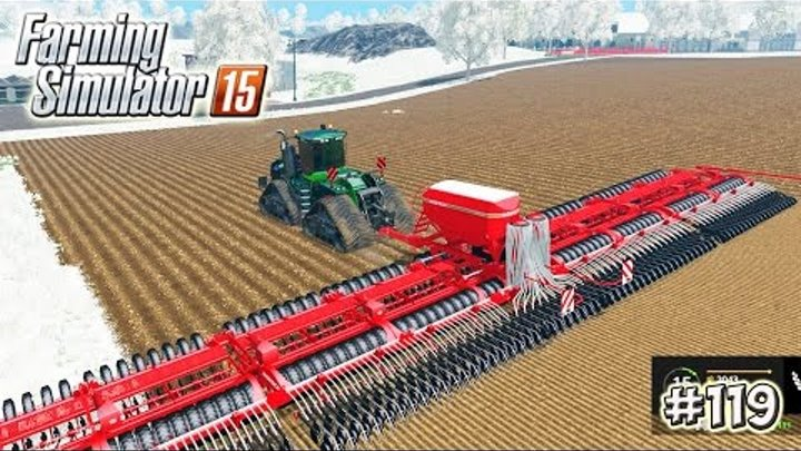 Farming Simulator 15 моды: БОЛЬШАЯ СЕЯЛКА (26М) (119 серия)