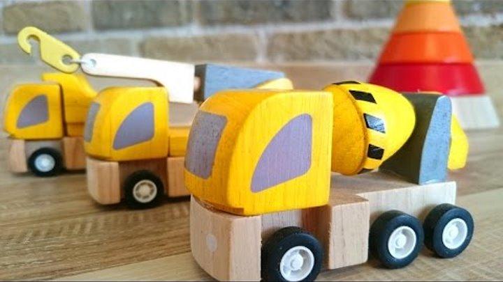 Видео из игрушек. Машинки и пирамидка. Учим цвета. Мультфильмы для малышей.