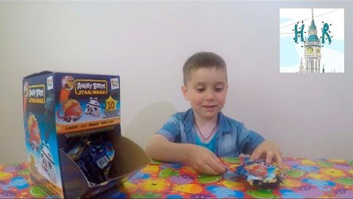 Энгри Бёрдс Стар Варс распаковка игрушек Злые Птички Angry Birds Star Wars Toy Opening Figure Set