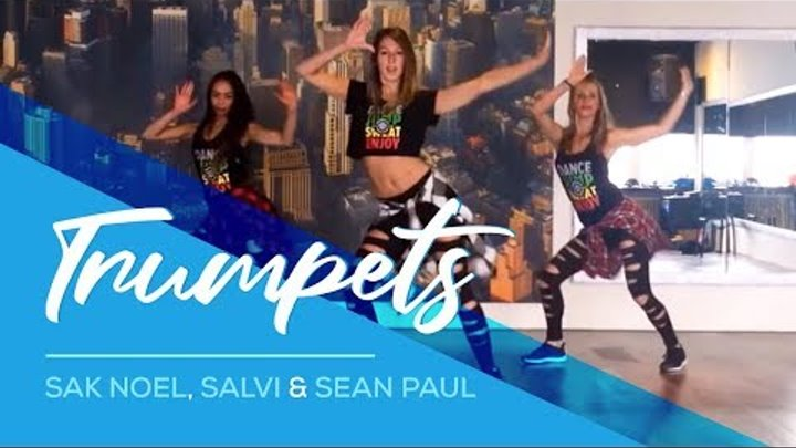 Trumpets - Sak Noel & Salvi - ft Sean Paul - Easy Fitness Dance Choreography - Zumba