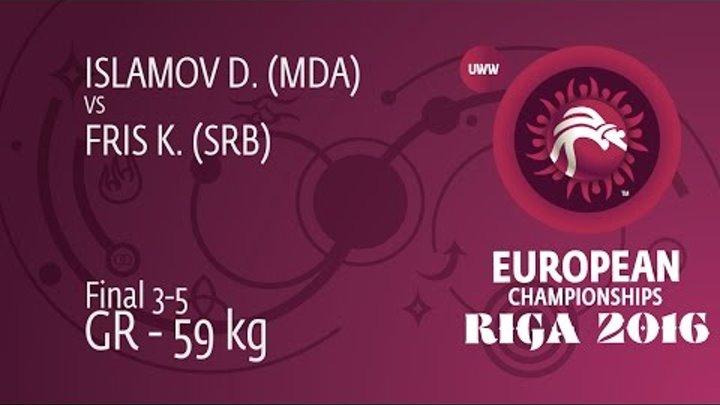 BRONZE GR - 59 kg: D. ISLAMOV (MDA) df. K. FRIS (SRB) by TF, 8-0