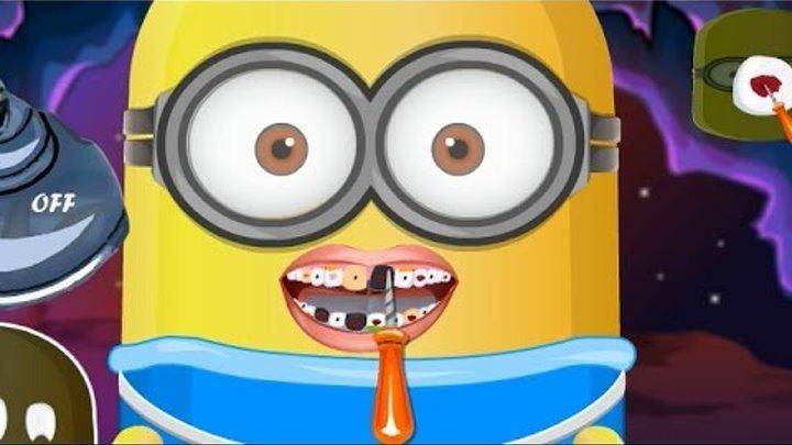 NEW Игры для детей—Disney Принцесса лечит зубы миньону—мультик для девочек