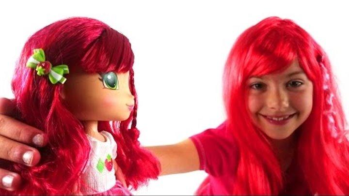 Шарлотта Земляничка видео с игрушками. Новая подружка Поли. Куклы. Видео для детей.