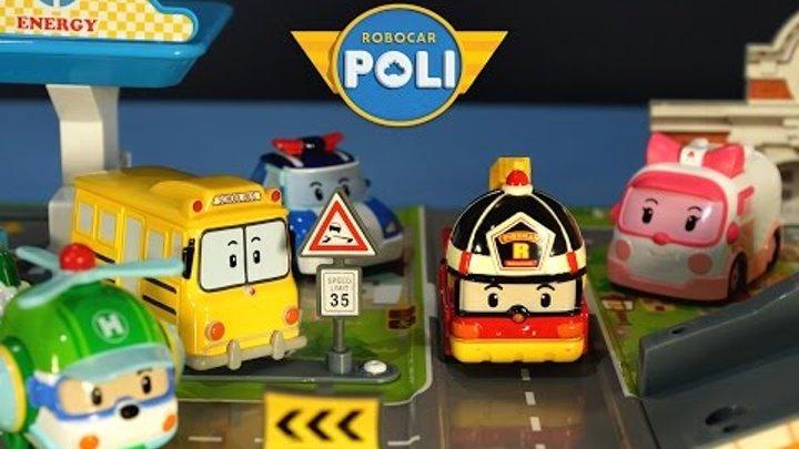 Робокар Поли и его Друзья - Машинки для Детей из мультика. Robocar Poli rescue team toys