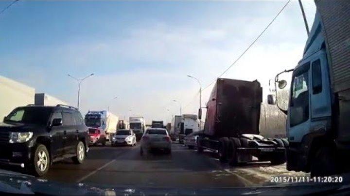 Забастовка дальнобойщиков против 3,73р. за км пути