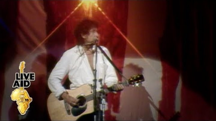 Bob Dylan / Keith Richards / Ron Wood - Blowin' In The Wind (Live Aid 1985)