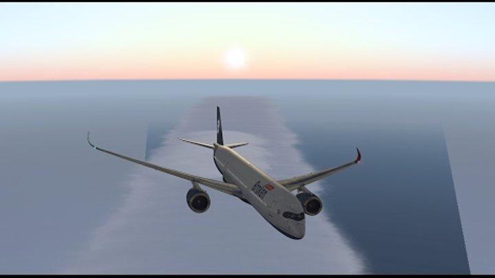 """""""Через северный полюс!"""" Дальняк на Airbus A350 для X-Plane"""