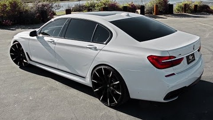 "2016 BMW 750i on 24"" Lexani Wheels"