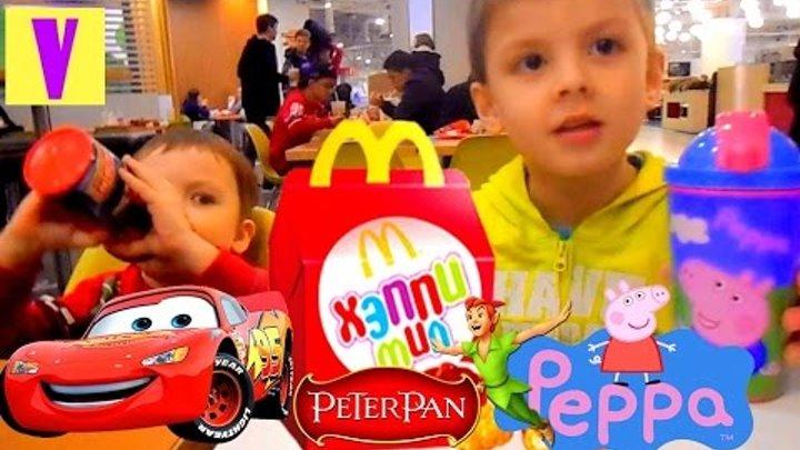 Хеппи Мил Макдональдс Игрушки Мультфильма Питер Пэн Happy Meal McDonald Toys Disney Cars peppa pig
