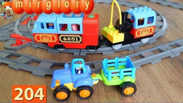 Машинки Мультики про Паровозики Трактор Город машинок 204 серия Мультики для детей игрушки mirglory