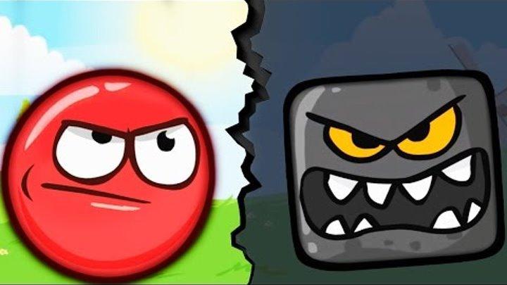 Игровой мультик КРАСНЫЙ ШАРИК против ЗЛОБНЫХ КВАДРАТОВ Мульт Игра для детей Red Ball 4