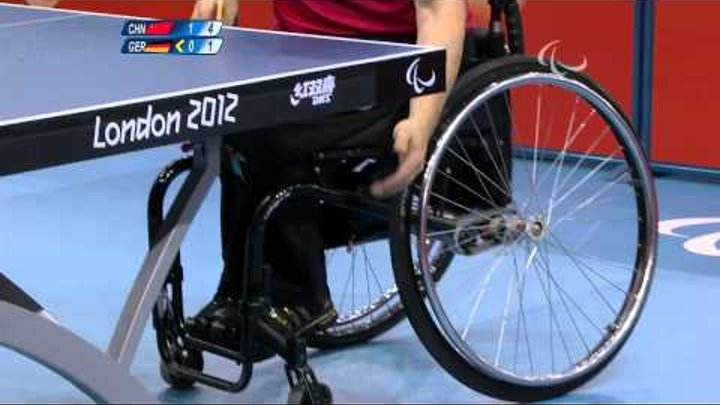 Table Tennis - GER vs CHN - Men's Singles Cl 4-5 Quarterfinal1 M3 - London 2012 Paralympic Games.mp4