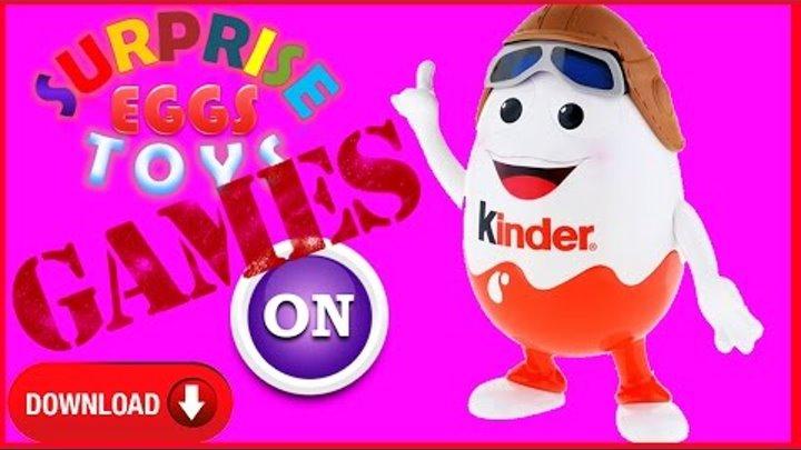 Миллион Киндер Surprise Eggs 2016 Видео игра для детей дети и родители прохождение игры Обзор мульт