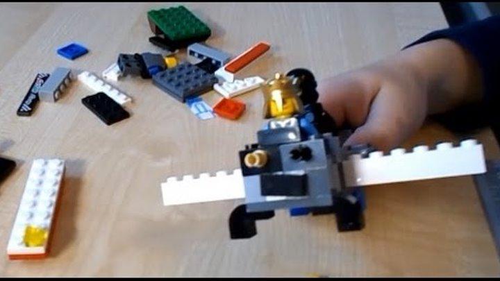 Как собирать свой самолёт из конструктора Лего. Видео для детей. | How to make a LEGO plane
