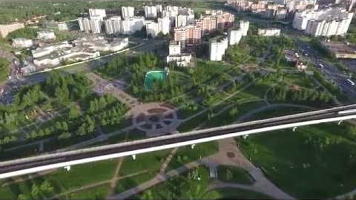Москва.Южное Бутово, м. Горчакова с квадракоптера