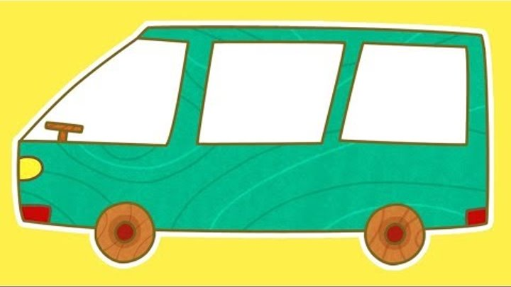 Dessin animé pour enfants de voitures avec Prabou: un monospace