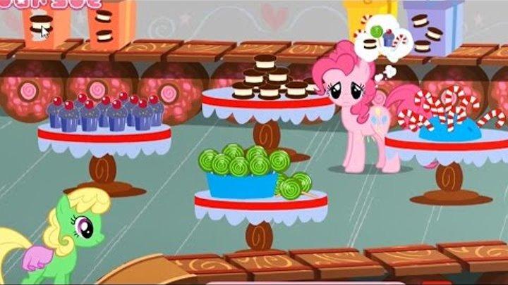 Пони игры. МЫ НА ФАБРИКЕ СЛАДОСТЕЙ. ПИНКИ ПАЙ ОБЖОРА! My little pony мультик- игра