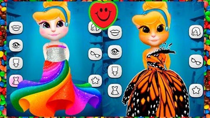 МОЙ ГОВОРЯЩИЙ ТОМ И ГОВОРЯЩАЯ АНДЖЕЛА Золушка #2 Cinderella MY TALKING ТОМ ANGELA игровой мультик