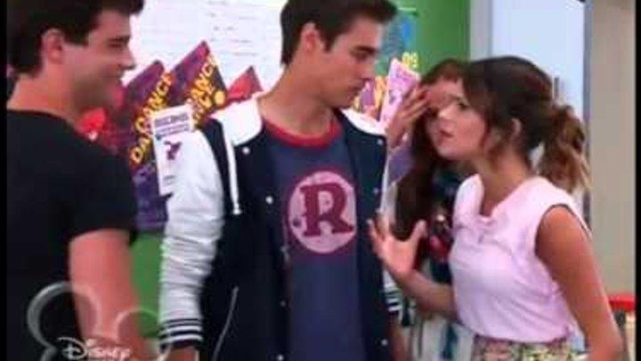 Виолетта 2 10 серия, Леон и Диего ссорятся, и вмешивается Пабло