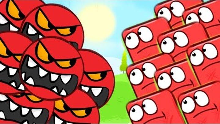 КРАСНЫЙ ШАР СТАЛ ЧЕРНЫЙ ШАРИК ПРОТИВ КРАСНЫХ ЗЛЫХ ШАРИКОВ мультик игра для детей Red Ball 4 от Спуди
