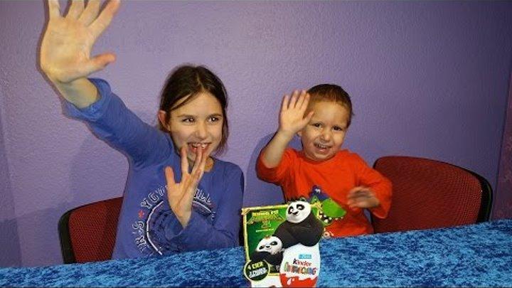 ◉Вскрытие 4 яиц Панда Кунг Фу 3. Киндер сюрприз/ 4 Surprise Eggs Panda Kung Fu 3. Unboxing