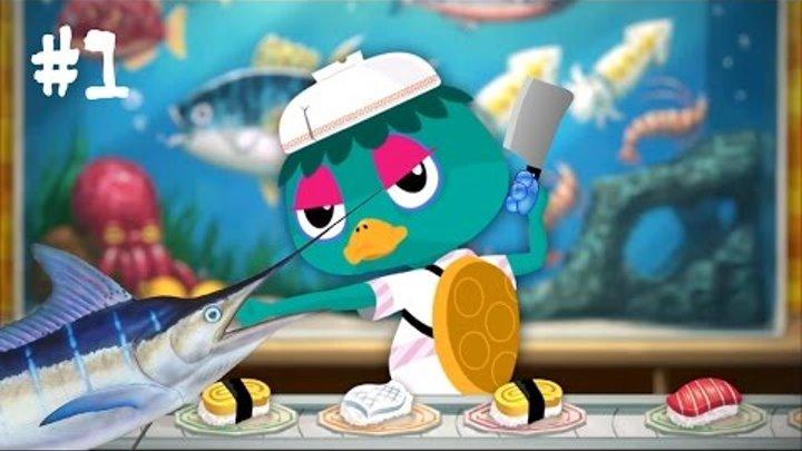 Мастер Суши - Игры на андроид прохождение Игра Обычная Еда против суши Видео для детей Sushi Master