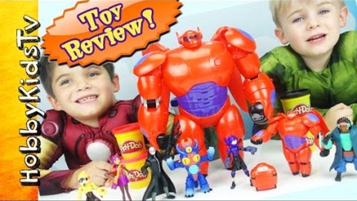 Big Hero 6 Action Figures Vinylmation Disney Box Opening Blind Box Baymax Hiro by HobbyKidsTV