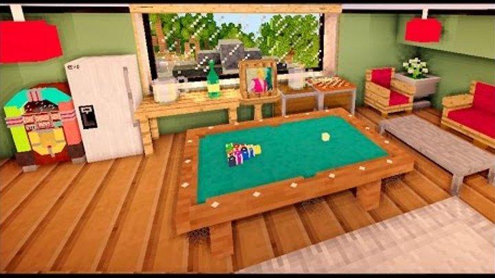 КОМНАТА ОТДЫХА в доме в майнкрафт - Серия 34 - Minecraft - Строительный креатив 2