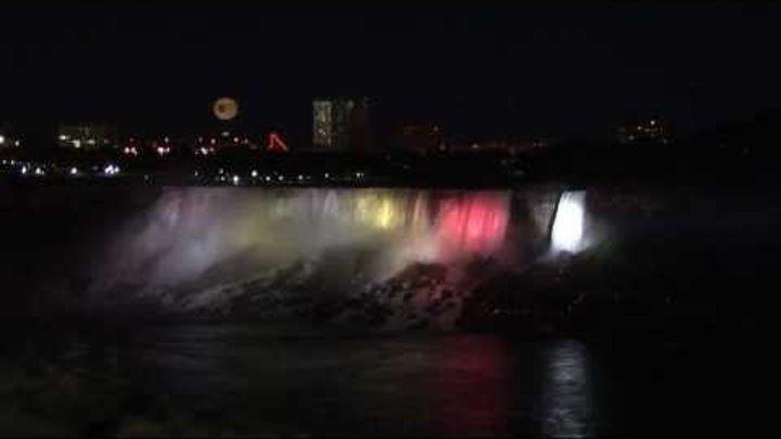 Niagara Falls illuminated - Canada, USA HD Travel Channel