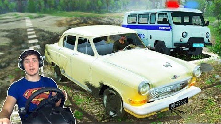 ГОНКИ С МЕНТАМИ в SPINTIRES + РУЛЬ Logitech Driving Force GT