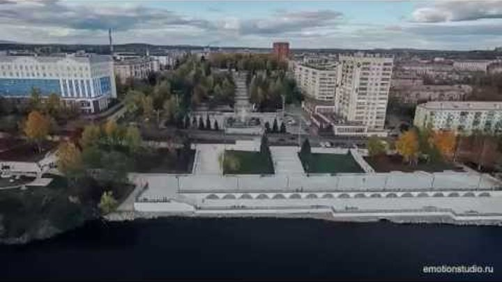 Нижний Тагил набережная и фонтан FullHD