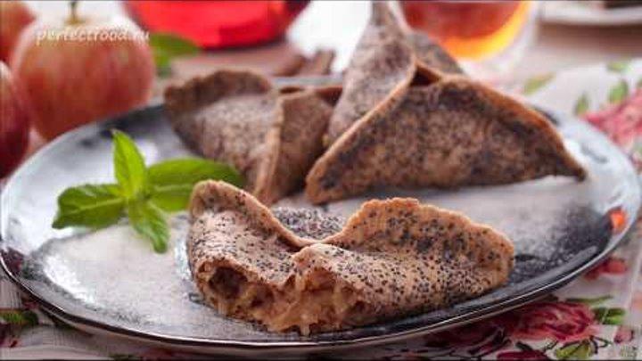 Треугольные пирожки с яблоками на цельнозерновой и ржаной муке / Добрые рецепты