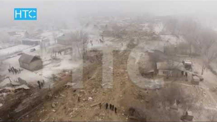 Авиакатастрофа турецкого самолета вблизи Бишкека: Видео с дрона / НТС / 16.01.17
