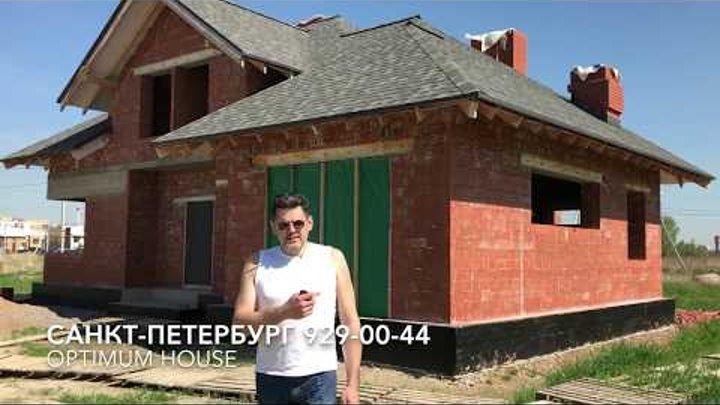 Кирпичный дом по проекту Петергоф