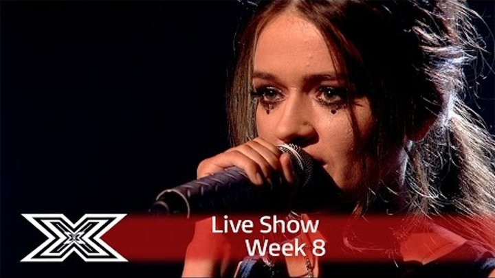 Emily Middlemas rocks out to Rag 'N' Bone Man's Human. | Live Shows Week 8 | The X Factor UK 2016