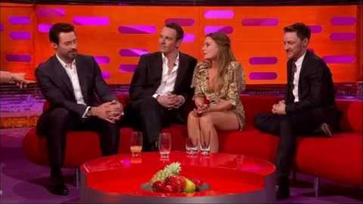 Хью Джекман, Майкл Фассбендер и Джеймс МакЭвой на шоу Грэма Нортона (rus sub)