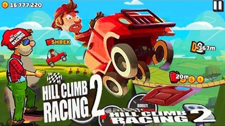 НОВАЯ МУЛЬТИК ИГРА про МАШИНКИ Hill Climb Racing 2 веселые тачки и гонки на джипах и мотоциклах