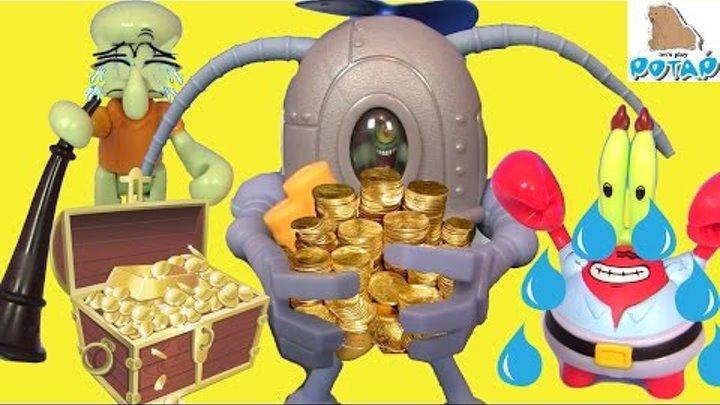 Губка Боб Квадратные Штаны Мультик – ПЛАНКТОН УКРАЛ ВСЕ ДЕНЬГИ! Смотреть Губка Боб. Спанч Боб