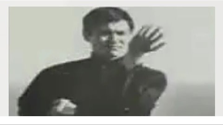 Редкое видео, где Брюс Ли (Bruce Lee) выполняет технику Вин Чун.