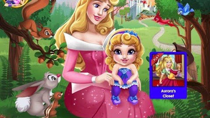 NEW мультик для детей—Аврора заботливая мамочка—Флэш-Игры для девочек