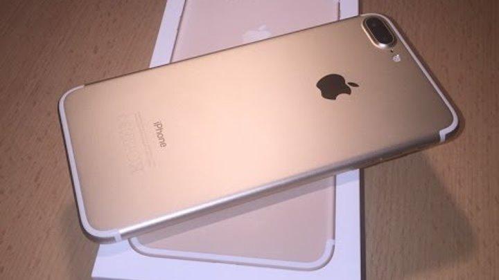 Распаковка нового Айфона 7 плюс
