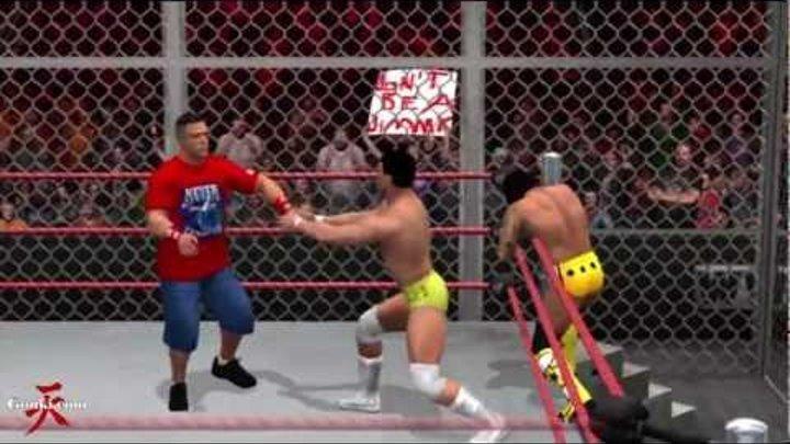 WWE Hell in a Cell 2011 John Cena VS CM Punk VS Alberto Del Rio [AI Prediction] match