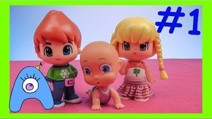 Пинипон и малышка Полли.1 Серия. Барби пришла к Винкс. Пин и Пон следят за крошкой Полли. СамиСамиТВ