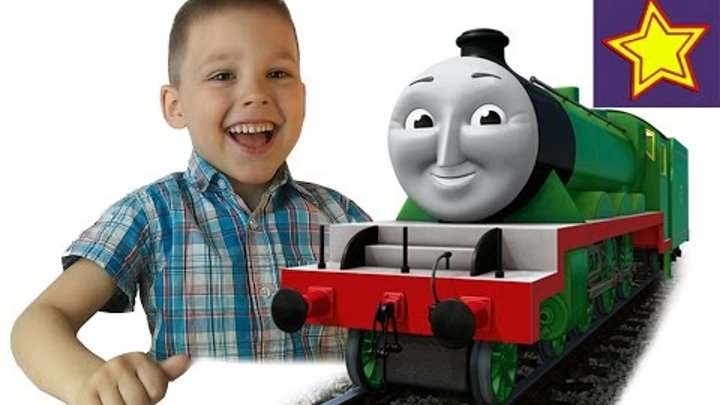 Томас и его друзья Паровозик Генри распаковка игрушки Thomas & Friends Henry unboxing