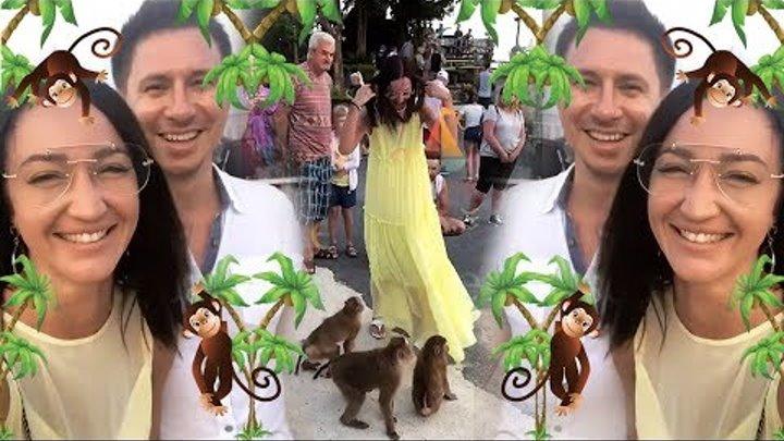 Бузова кормит обезьянок с Тимуром Батрутдиновым🐒🤣