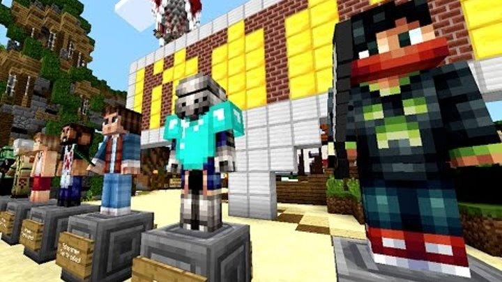Майнкрафт ГОЛОДНЫЕ ИГРЫ. Minecraft PE на сервере LifeBoat - Hunger Games. Летсплей Майнркатф ПЕ